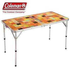 BBQテーブル Coleman コールマン ナチュラルモザイクリビングテーブル/120プラス 送料無料 レジャーテーブル アウトドアテーブル バーベキュー BBQ キャンプ 501925 2000026751 おしゃれ コンパクト 折りたたみ