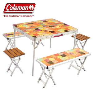 ナチュラルモザイクファミリーリビングセットプラス 2000026757送料無料 アウトドア 折りたたみ コンパクト テーブル ベンチ イス チェアー セット ファミリー アウトドアテーブル アウトドア