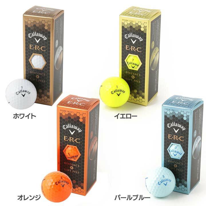 Callaway E・R・C ボール (3個入り) 64228530300117ゴルフボール ゴルフ ボール golf ゴルフ用品 Callaway ホワイト・イエロー・オレンジ・パールブルー【D】