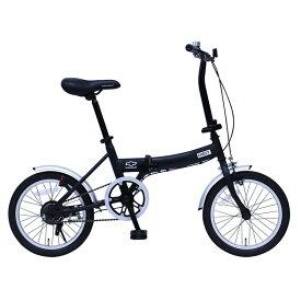 CHEVROLET FDB16G 16インチ折畳自転車 ブラック MG-CV16G送料無料 自転車 移動 シボレー 折り畳み 黒 コンパクト 通勤 通学 お出かけ ミムゴ 【TD】【B】 【代引不可】