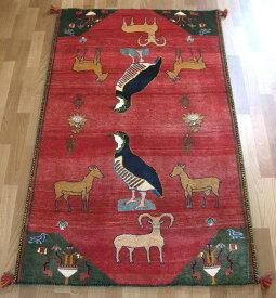 ギャッベ ギャベ/カシュガイ、絨毯のような細かな織 162×101cm