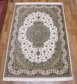 ペルシャ絨毯・シルク100% 200×133cm