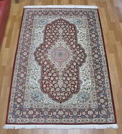 ペルシャ絨毯・シルク100% 197×135cm
