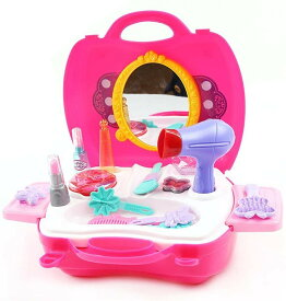 なりきりおもちゃ おままごと 収納トランクセット お化粧 メイクアップ コスメティック 女の子 メイクセット