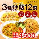 炒飯チャーハン3種12袋セット(エビ塩・炒め・カレー各4袋)大阪王将