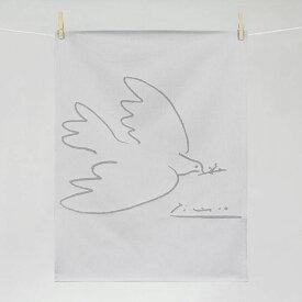 ティータオル 『ピカソ・平和の鳩(La Corombe de la Paix)』Tissage Moutet(ティサージュ・ムテ)キッチンファブリック