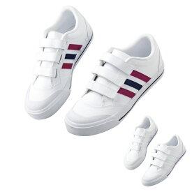 \当店は3980円以上で+P2倍/ アディダス スニーカー 面ファスナー SMS800 ナースシューズ 白 疲れにくい 歩きやすい Adidas 靴 シューズ 白い靴 病院 ナース 看護師 介護士 ナースコム 領収書OK 送料無料