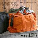 moustache ムスタッシュ 高密度ナイロンのボストンバッグ・L52L 2way 旅行 ジム メンズ 大人 宿泊 パパ AFG-6053
