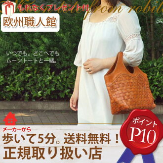 Mesh leather ムーントート (large) /AN-050L Robit Roberta mesh bag leather bag ladies tote bag for commuting o-sho ladies travel bag