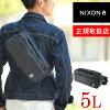 Nixon NIXON! Sling bag Shoulder bag waist bag [SLINGPAC] nc1957 waterproofing water repellent 2way人 care mens gift West porch also birthday gift brand dealer