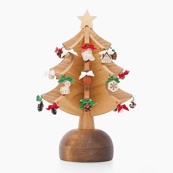 オルゴールツリー プチ(ナチュラル)【木製】【日本製】【クリスマスツリー】【オルゴール】 【飛騨高山 オークヴィレッジ・Oak Village】