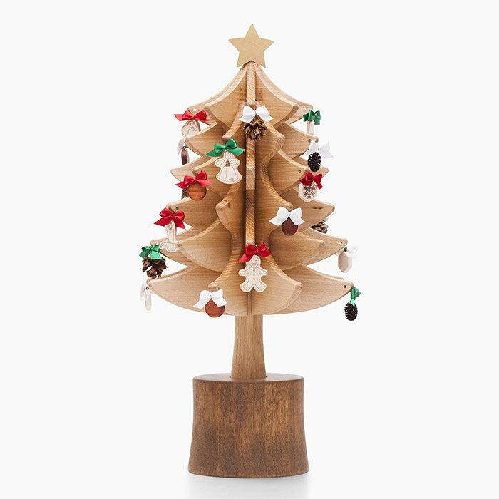 オルゴールツリー スタンダード(ナチュラル)【木製】【日本製】【クリスマスツリー】【オルゴール】 【飛騨高山 オークヴィレッジ・Oak Village】