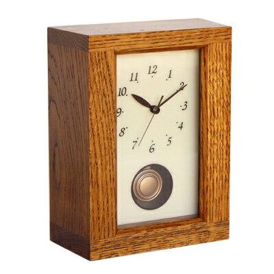 【時計フェア】REクロック NARA 漆【木製】【時計】【置時計】【置き時計】 【飛騨高山 オークヴィレッジ・Oak Village】