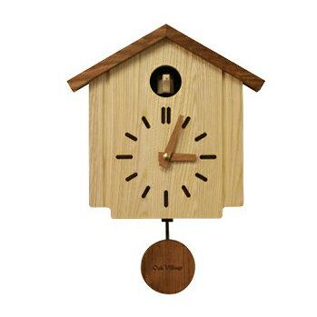 【時計フェア】カッコークロック 森の巣箱【木製】【時計】【鳩時計】 【飛騨高山 オークヴィレッジ・Oak Village】