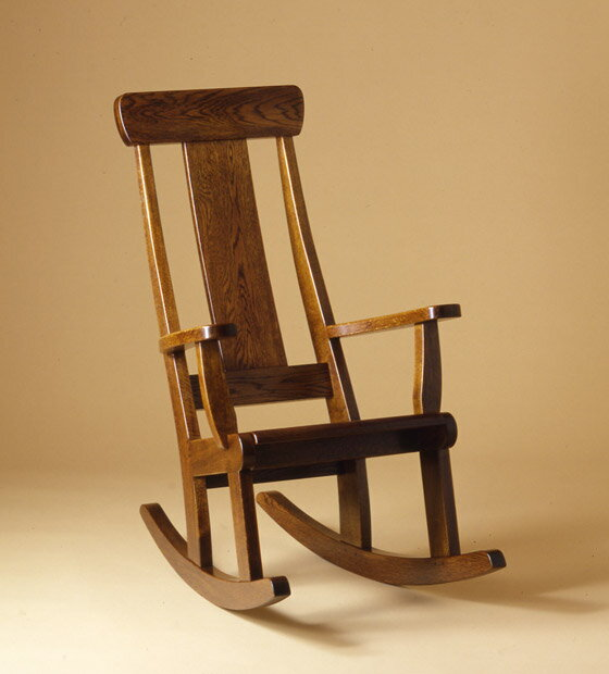ロッキングチェア(ゆり椅子)【木製】【日本製】【椅子】【飛騨の家具】【漆】 【飛騨高山 オークヴィレッジ・Oak Village】
