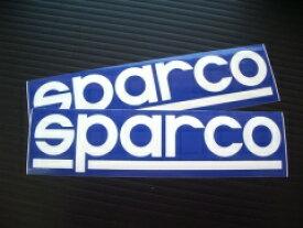 スパルコステッカー(sparco) Sサイズ2枚set マシン、トランスポーターのドレスアップにどうぞ。