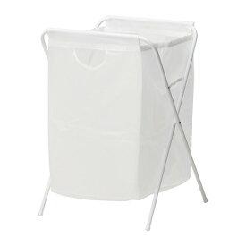 IKEA JÄLL イケア イエル ランドリーバッグ スタンド付き, ホワイト 101.718.26