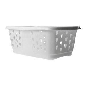 IKEA BLASKA イケア ランドリーバスケット, ホワイト 202.145.33