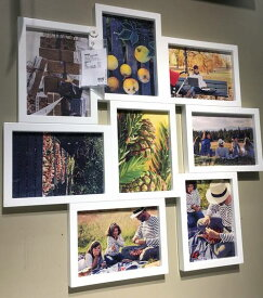 IKEA VAXBO イケア コラージュフレーム 写真8枚用, ホワイト 写真立て フォトフレーム 202.566.22