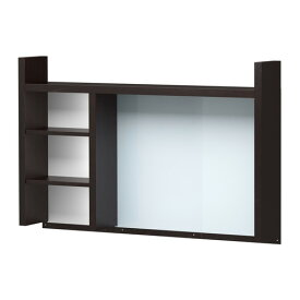 IKEA MICKE イケア ミッケ 追加ユニット 高, ブラックブラウン デスク 机 301.800.28(103.542.70)
