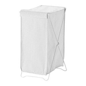 IKEA TORKIS イケア ランドリーバスケット, ホワイト/グレー 303.199.78