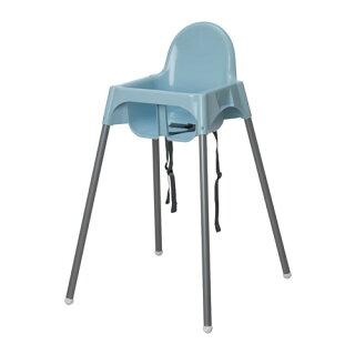 IKEAANTILOPイケアハイチェア安全ベルト付きブルーシルバーカラー603.674.49【メール便不可】