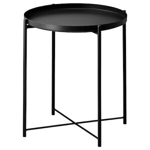 IKEA GLADOM イケア トレイテーブル, ブラック 004.119.97