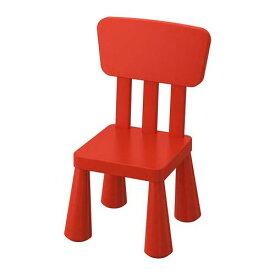 IKEA MAMMUT マンムット子ども用チェア, 室内/屋外用, レッド 203.653.67