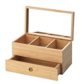 IKEAイケアDRAGAN ドラガンジュエリーボックス, 竹, ミラーガラス404.674.16