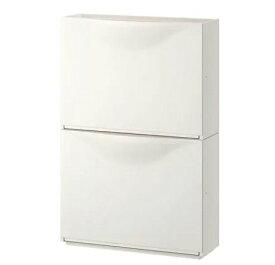 【NEW】IKEAイケアTRONES トローネスシューズキャビネット 収納 ホワイト2 ピース803.973.08