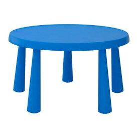 IKEA MAMMUT マンムット子ども用テーブル, 室内/屋外用 ブルー 403.651.87