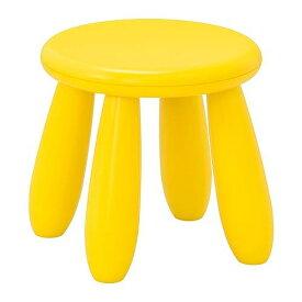 IKEA MAMMUT マンムット子ども用スツール, 室内/屋外用, イエロー903.823.25