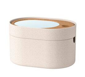 【NEW】SAXBORGA サクスボルガ収納ボックス ミラーのふた付き, プラスチック コルク003.940.16