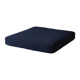 IKEA イケア OMTANKSAM オムテンクサムチェアクッション四角, オッルスタブラックブルー(203.997.39)