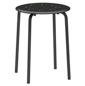 イケア IKEA MARIUS スツール, ブラック イケアのイス 001.623.80 【メール便不可】