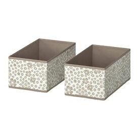 IKEA イケア STORSTABBE ストルスタッベ ボックス, ベージュ 2ピース 104.103.51