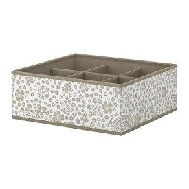 IKEA イケア STORSTABBE ストルスタッベ ボックス 仕切り付き, ベージュ 104.261.87