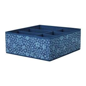 IKEA イケア STORSTABBE ストルスタッベ ボックス 仕切り付き,ブルー, ホワイト 204.243.43