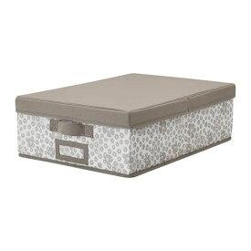 IKEA イケア STORSTABBE ストルスタッベ ふた付きボックス ベージュ 803.983.55