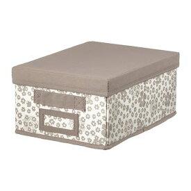 IKEA イケア STORSTABBE ストルスタッベ ふた付きボックス小 ベージュ 504.103.68