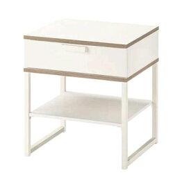 イケア IKEA TRYSIL トリスィル ベッドサイドテーブル, ホワイト, ライトグレー45x40 cm503.557.48【メール便不可】