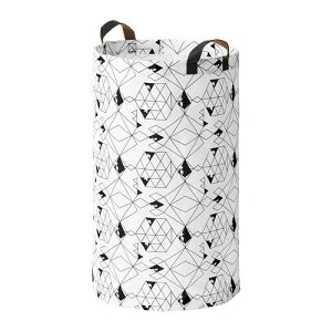 IKEA イケア PLUMSA プルムサランドリーバッグ, ホワイト, ブラック 404.531.36