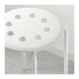 IKEA MARIUS イケア スツール, ホワイト イケアのイス 301.840.50