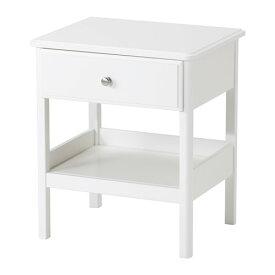 イケア IKEA TYSSEDAL ベッドサイドテーブル ホワイト 603.574.74【メール便不可】