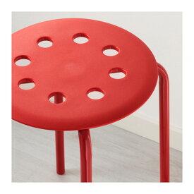 イケア IKEA MARIUS スツール, レッド イケアのイス 602.461.98 【メール便不可】