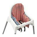 IKEA PYTTIG イケア サポートクッション&カバー レッド ブルー 602.518.25 【メール便不可】