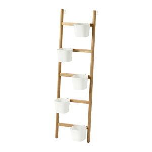 IKEAイケア【メール便不可】SATSUMASプラントスタンド 鉢カバー5個付き, 竹, ホワイト002.949.60