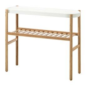 IKEA SATSUMAS イケア プラントスタンド, 竹, ホワイト 802.949.61 植木鉢台 【メール便不可】