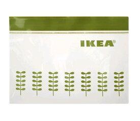 【新商品】IKEAイケア HOPSPARAホプスパラ フリーザーバッグ 新芽柄 プラスチック袋,抹茶カラー 60枚入り Sサイズ ジップロック 304.850.10