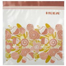 【NEW】IKEAイケアKLENÄT クレネート フリーザーバッグ, 植物園ピンク, 2.5L 20 ピース604.827.41袋